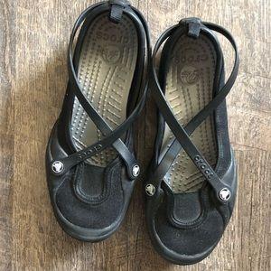 Strapped Crocs • Flats Size 6